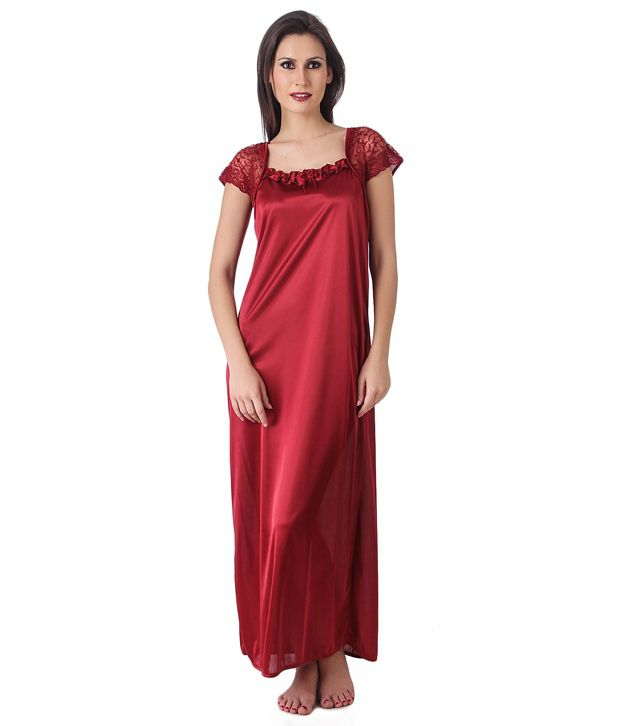 8bd1524750 Buy Masha Maroon Satin Nighty Online at Best Prices in India - Snapdeal