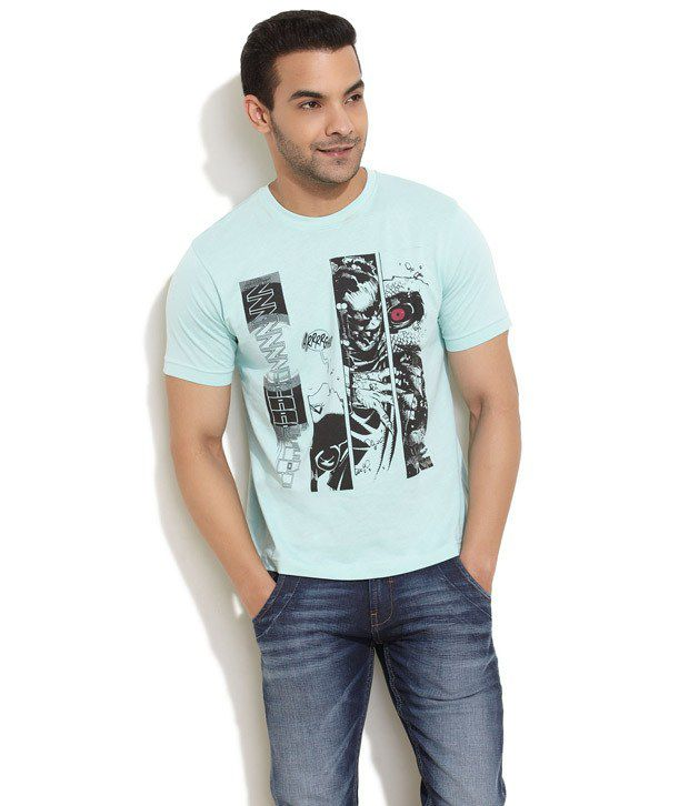 Rattrap Blue Half Cotton Round  T-Shirt