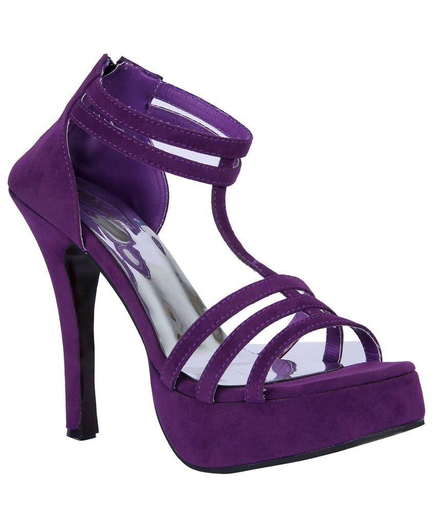 John Sparrow Purple Stiletto Heeled Slip-On