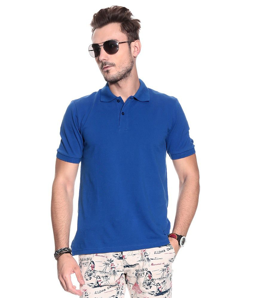 Lotto Navy Half  Polo T-Shirt