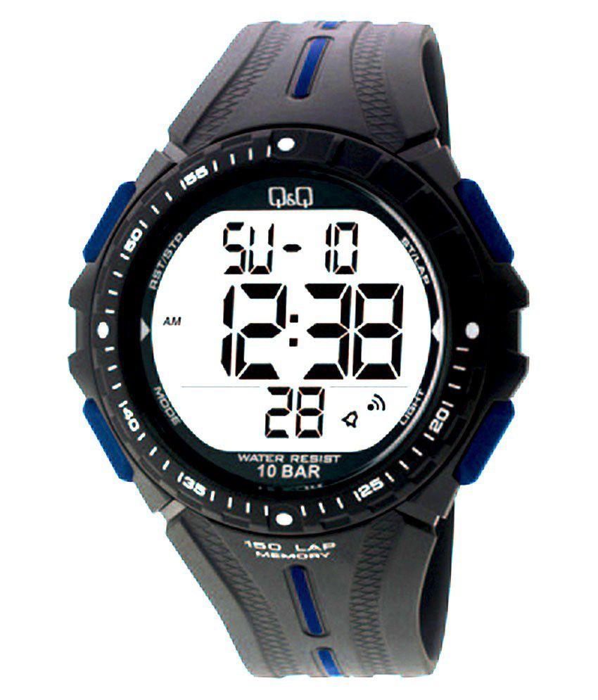 Q amp;Q m102j003y Silicon Digital Men #039;s Watch