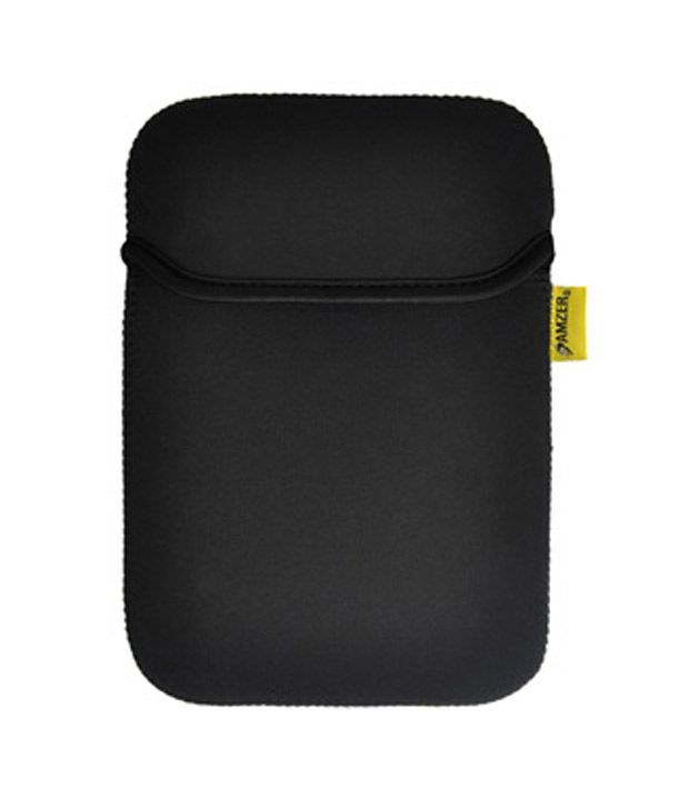 Amzer 90808 Neoprene Sleeve 7.5 Inches Case Cover with Pocket Matt Black/ Leaf Green