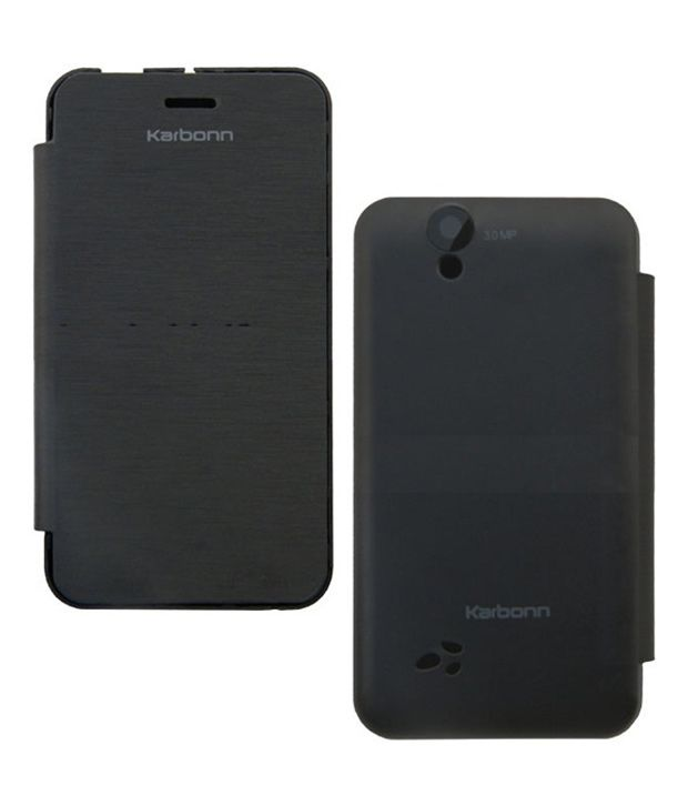 Case M Flip Case Cover for Karbonn Titanium S1 (Black) available at SnapDeal for Rs.219