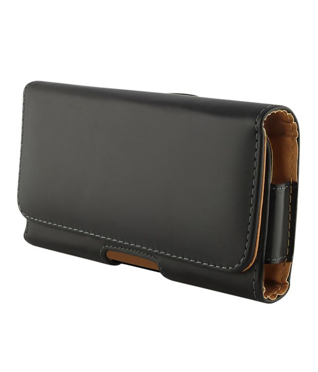 Leather Holster Carry Case Cover Pouch For BlackBerry Torch 9850 (with Belt Clip)