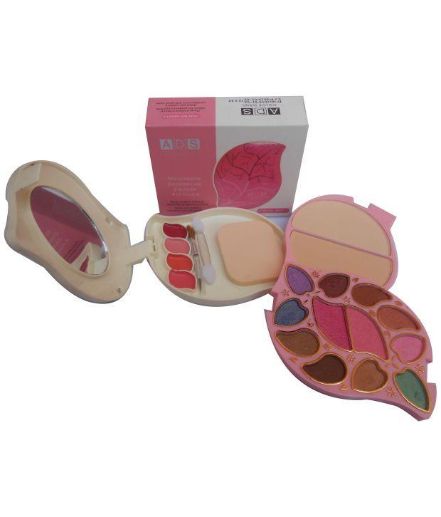ADS Makeup Kit Color Series 10Eyeshadow 2Powder Cake 2Blusher 4Lipcolor A82441-2