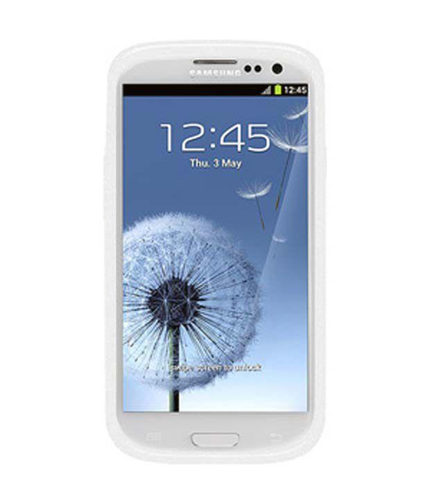 Amzer 94294 Glitter TPU Soft Gel Skin Case - White for Samsung GALAXY S III