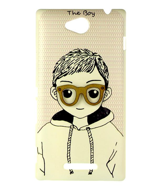 Dressmyphone Sony Xperia C 2305 'The Boy' Designer Back Cover - Beige