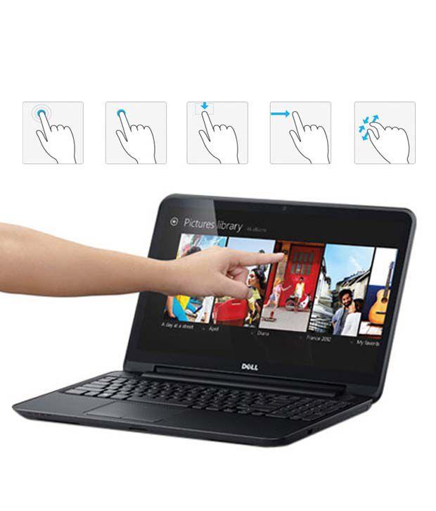 Dell Inspiron 15 3521-TS (Intel Pentium 2127U - 4GB RAM- 500GB Hard Disk Drive- 39.62cm (15.6) HD TS Screen- Win 8, 64-Bit- ) (Black