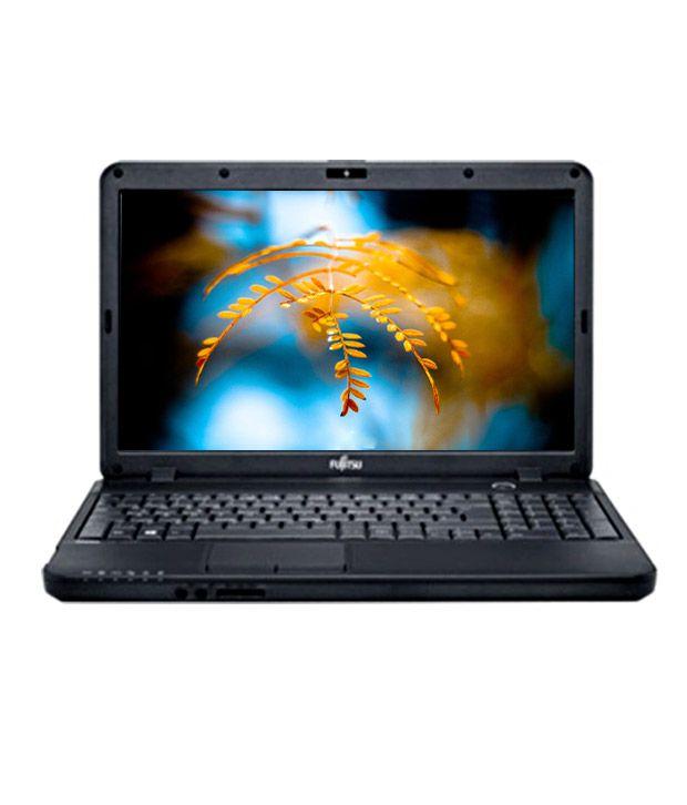 Fujitsu Lifebook AH502M52A5ID (Intel Celeron B830M- 2GB RAM- 320GB HDD- 39.62cm (15.6)- DOS) (Black)