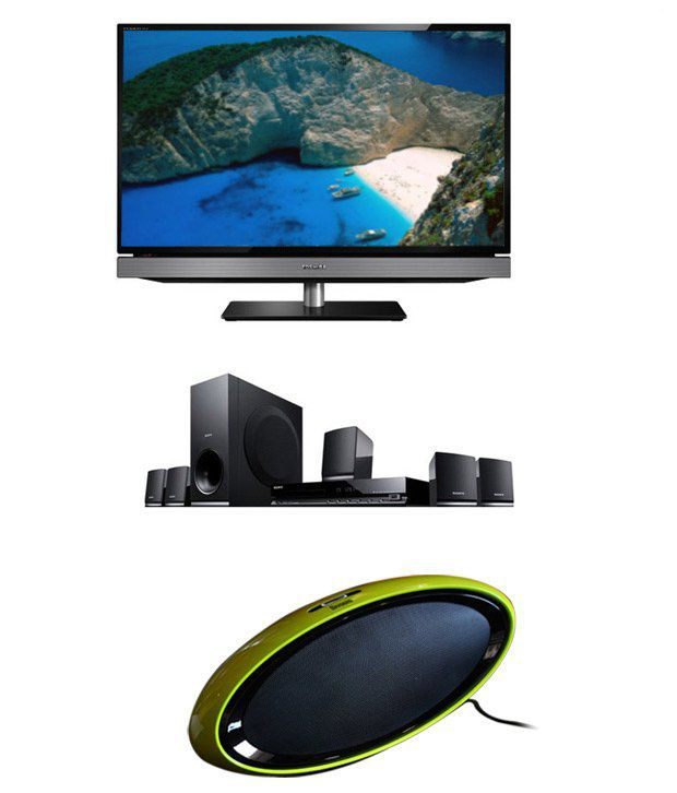 Toshiba 32PB200 81 cm (32) LED Television with Sony 5.1 DZ-145 Home Theater System and D-Voo.. ..