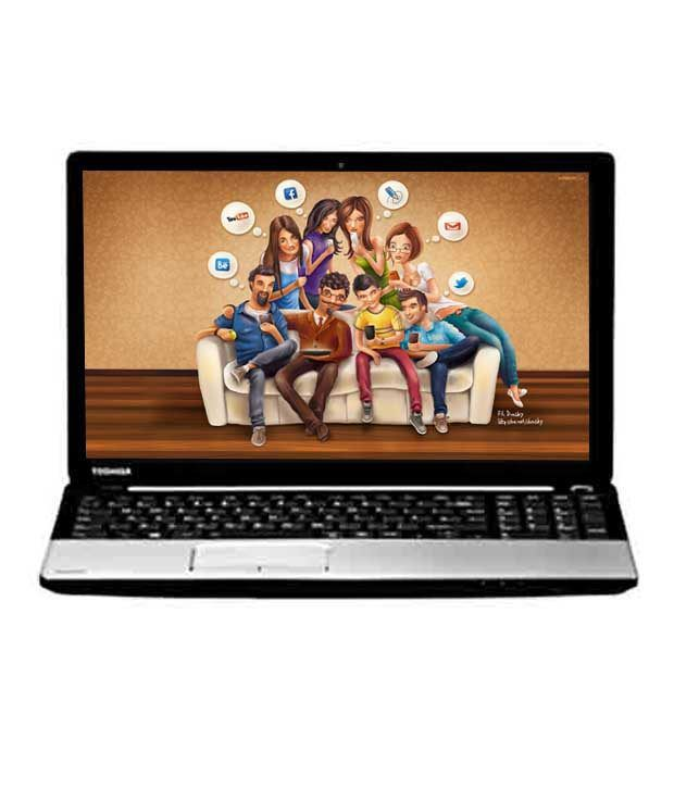 Toshiba Satellite C50D-A 40011 Laptop (PSCGYG-00K00J) (AMD A4-5000 Quad Core APU- 4GB RAM- 500GB HDD- 15.6 Inches Screen- DOS- 2GB ATI HD 8330 Graphics) (Premium Shining Silver with Inlet Logo)
