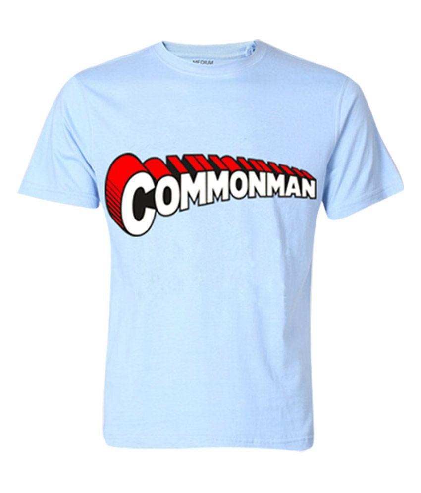 Wear Your Opinion Blue Half Cotton Round T-Shirt