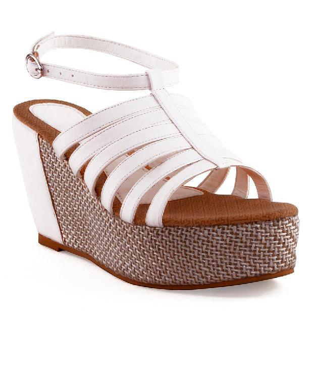 Kielz White Wedge Sandals