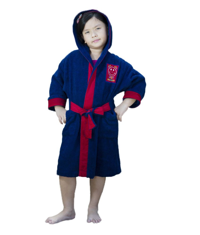 Spaces Smart Wonder Red Navy Kids Bath Robe