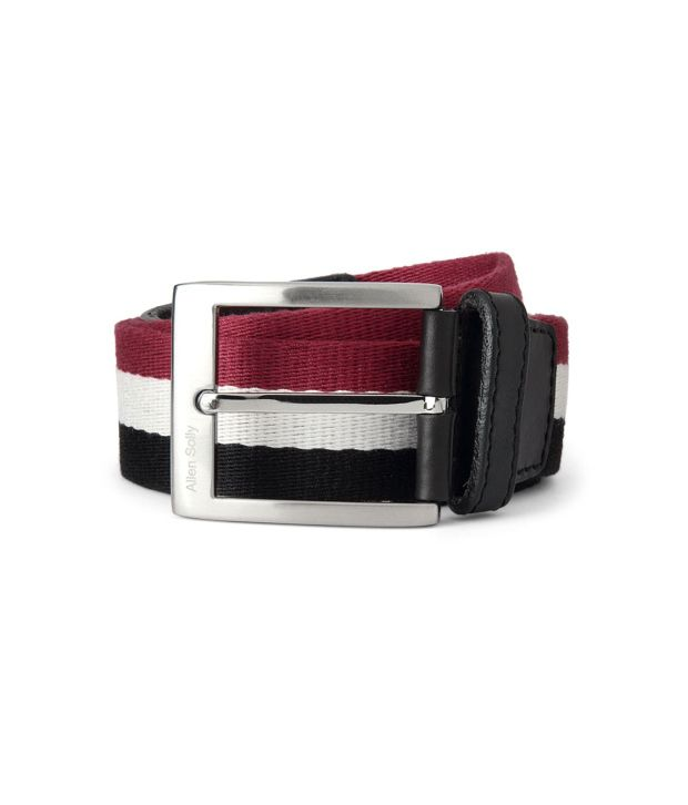 Allen Solly Red Casual  Belt  ForMen