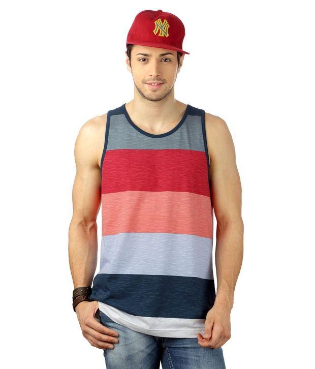 People Red Sleeveless Round  T-Shirt