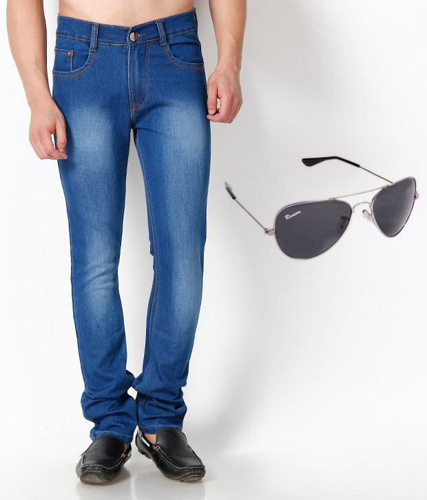 SF JEANS Blue Regular  Fit Jeans