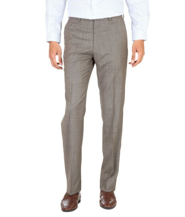 Van Heusen Brown Regular Formals Flat