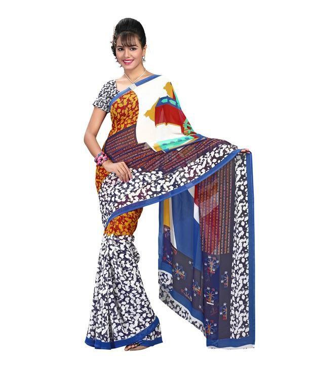 Fabdeal Multicoloured Georgette Saree