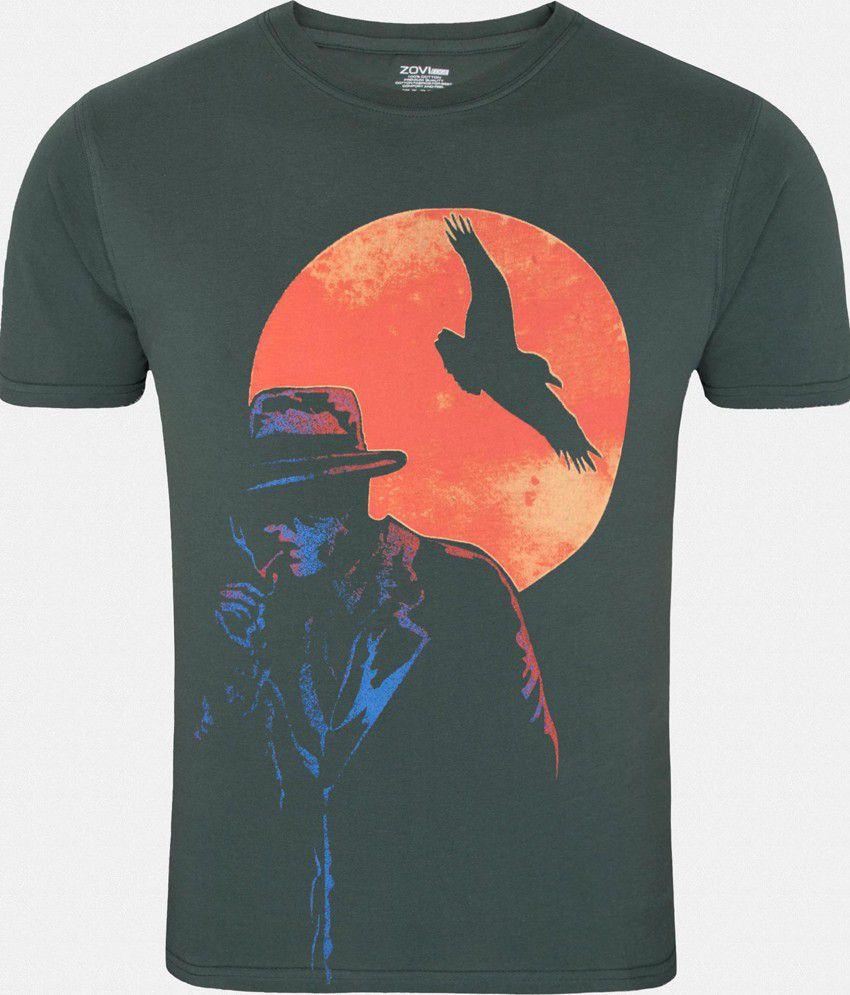 Zovi Gray Cotton T-Shirt