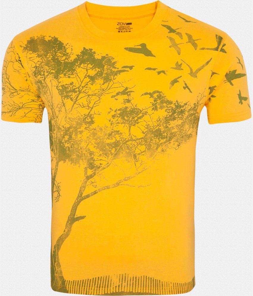 Zovi Yellow Cotton T-Shirt