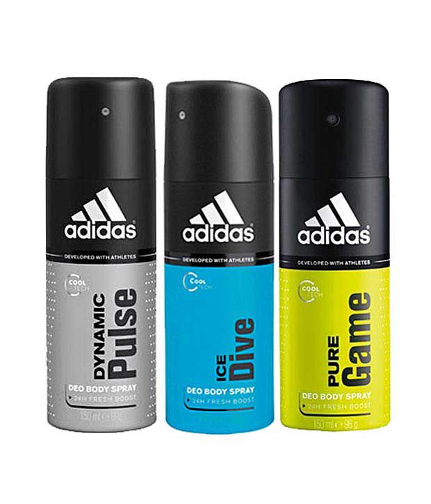 Adidas Dynamic Pulse, ice dive & Pure game Deodorant for Me...