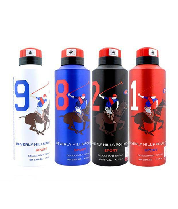 Beverly hills polo club combo of 4x175ml deodorants men buy online