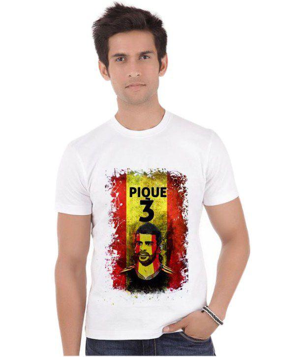 Bluegape Gerard Pique Spain Fc Barcelona Fifa World Cup 2014 T-Shirt