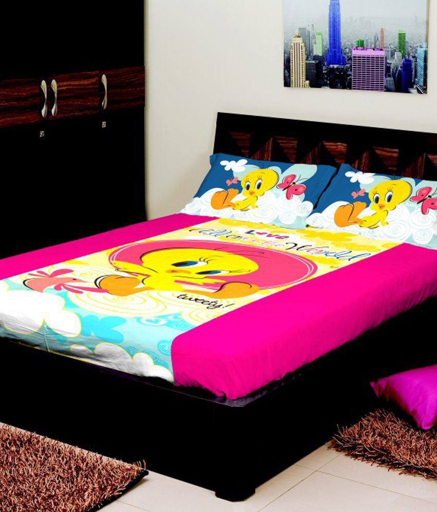 portico new york multicolour baby themes cotton tweety king size bed