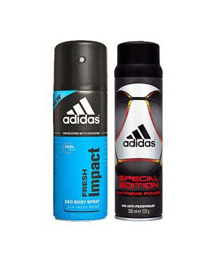 productos quimicos Decepcionado Museo  Adidas Fresh Impact & Special Edition Deodorant for Men-150ml Each: Buy  Online at Best Prices in India - Snapdeal