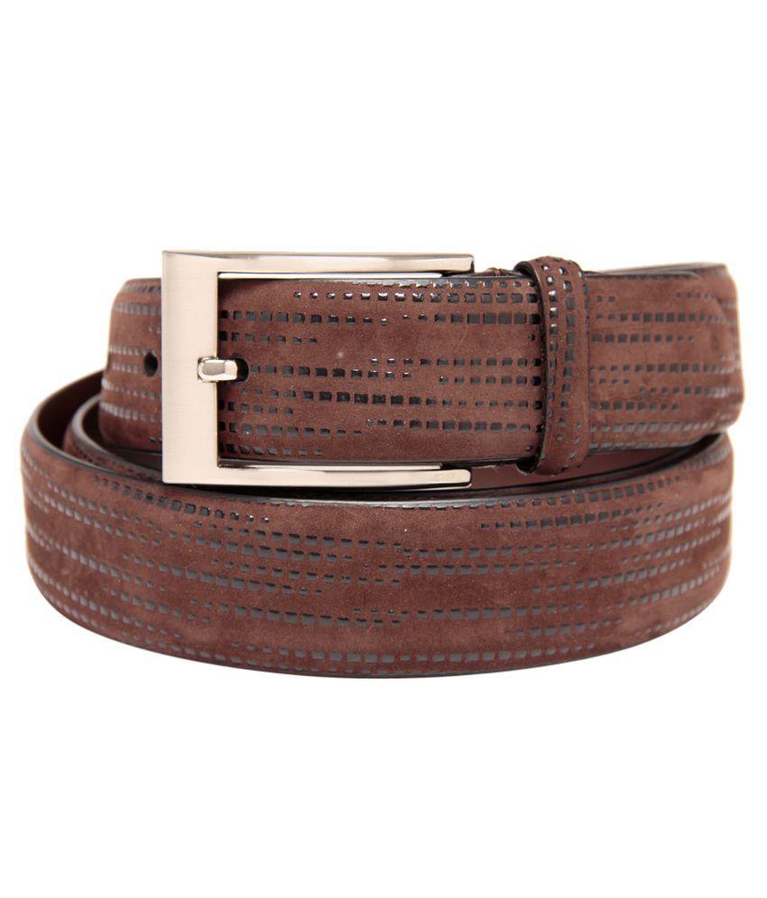 Leather Plus Brown Formal Single Belt ForMen