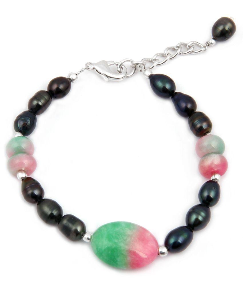 Pearlz Ocean Fruity Desire Fresh Water Pearl & Quartzite 7.5 Inch Bracelet