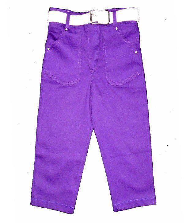 Sweet Angel 3/4 Lenth Lykra Twill Purple Color Capri For Kids