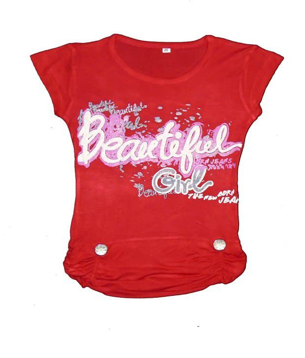 0a23ad0d Sweet Angel Beautiful Print Red Color Top For Kids - Buy Sweet Angel  Beautiful Print Red Color Top For Kids Online at Low Price - Snapdeal