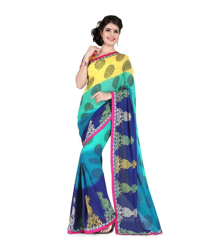 Sharda Sarees Multicoloured Georgette Saree