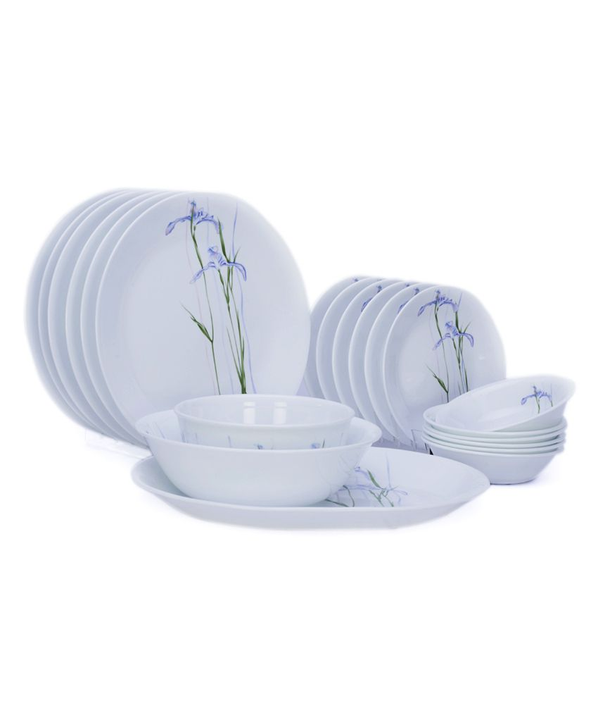 Corelle Asia Shadow Iris 21 Pcs Dinner Set Buy Online At Best Price In India