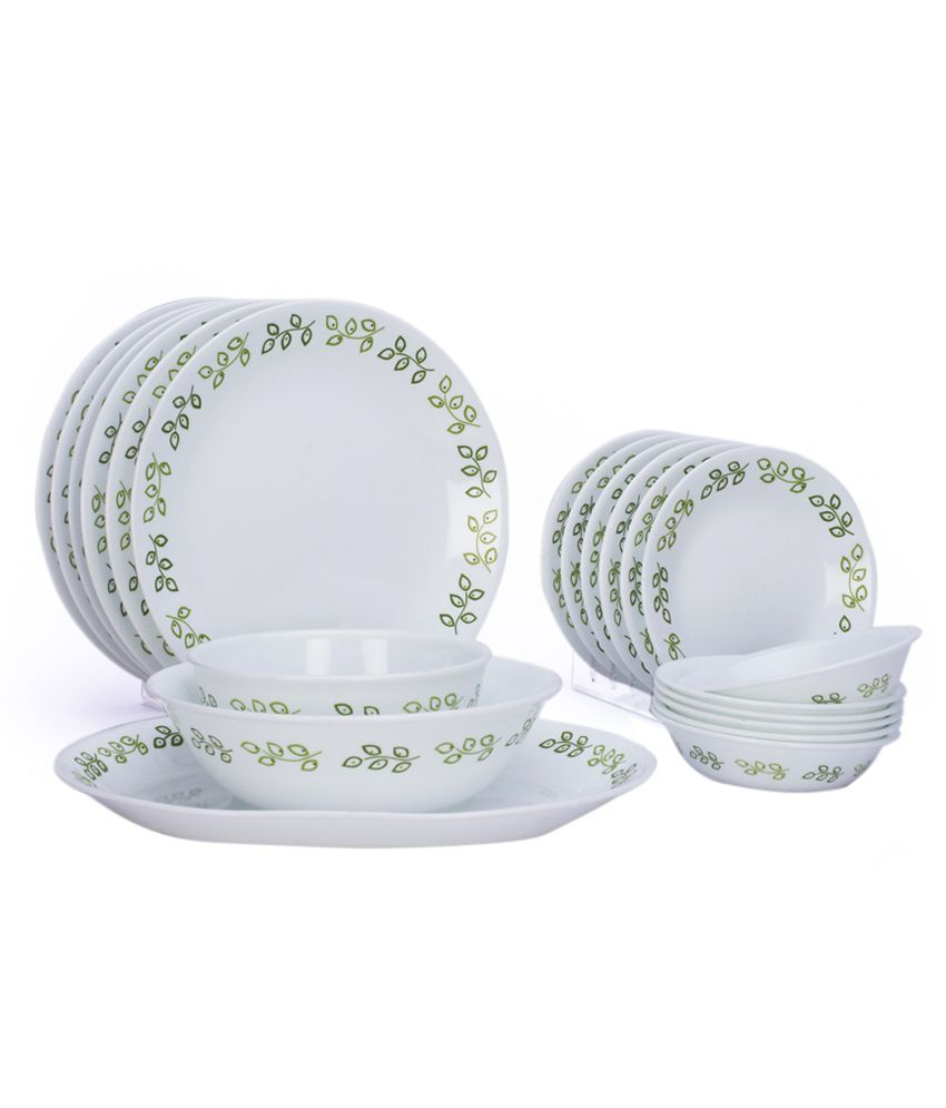 Corelle India Impressions Neo Leaf 21 Pcs Dinner Set ...  sc 1 st  Snapdeal & Corelle India Impressions Neo Leaf 21 Pcs Dinner Set: Buy Online at ...