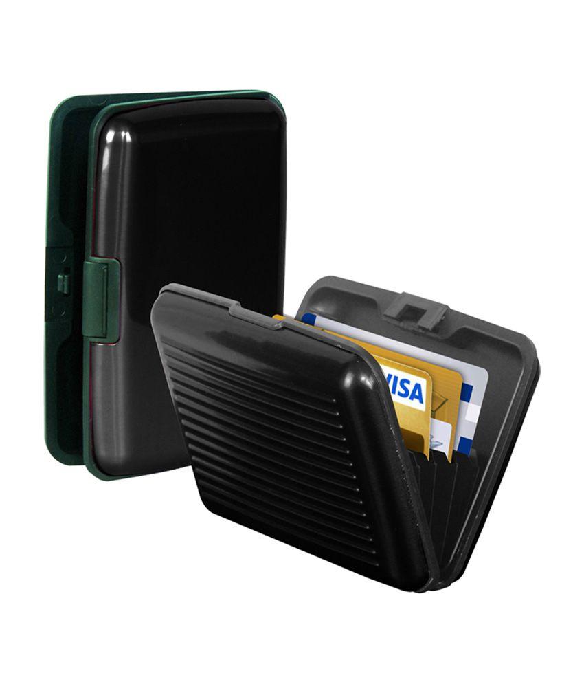 Krishna Aluminium Metal Pocket Business Id Black Credit Card Wallet ...