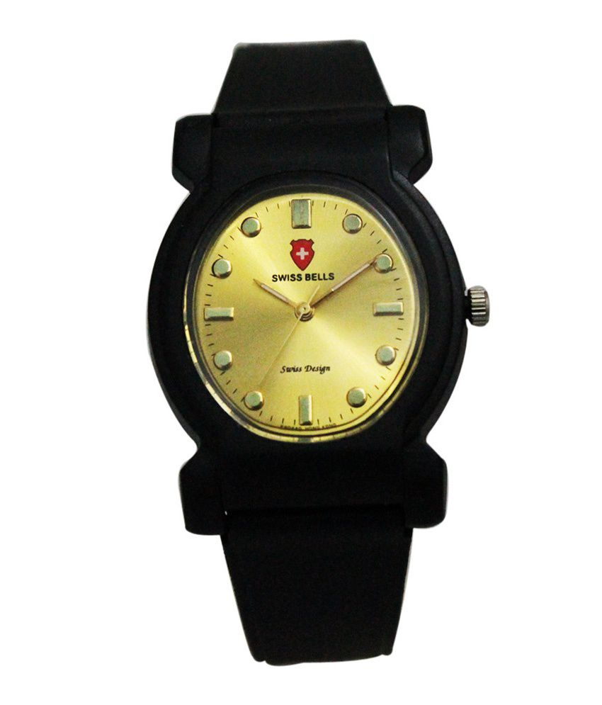 Svviss Bells Svviss Bells Golden Radium Number Dial Water Proof Watch
