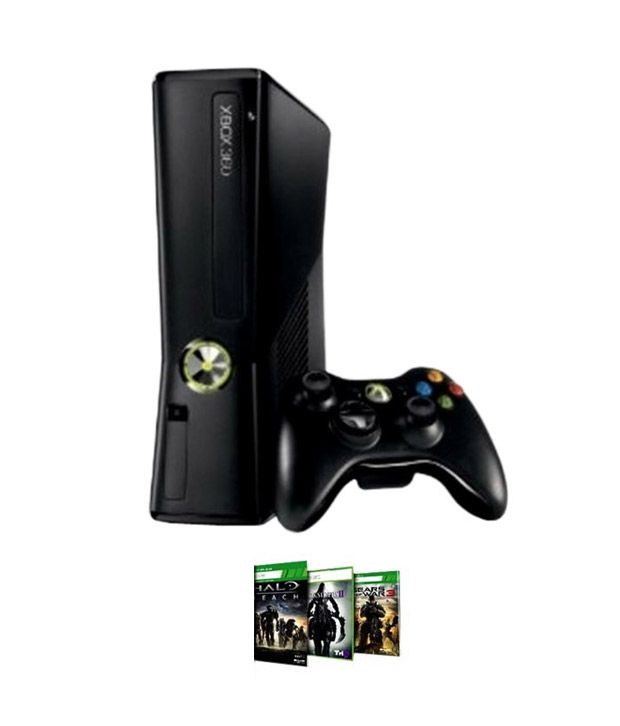 Microsoft Xbox 360 (250GB) Slim Action Adventure Bundle