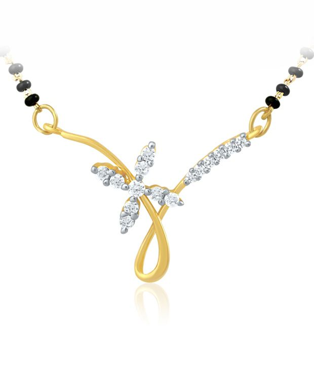 Mahi Gold Plated Mangalsutra with CZ for Women