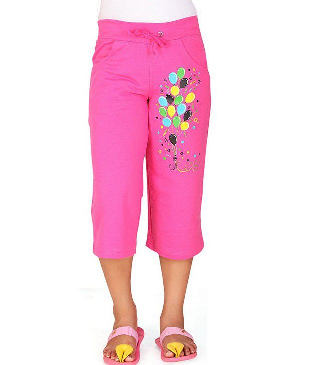 SINIMINI Pink Capris For Girls