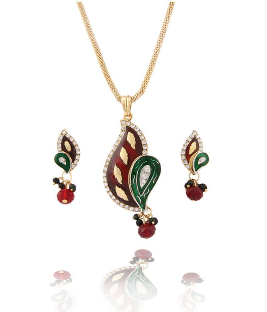 Subh Fashion Jewellery Mina Pendant Set