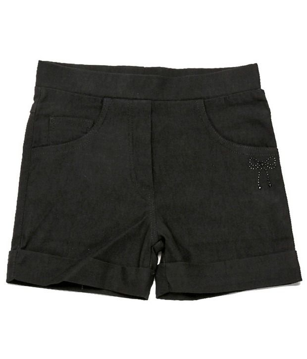 Ever Wear Imported Lam Lam Lycra Black Color Shorts