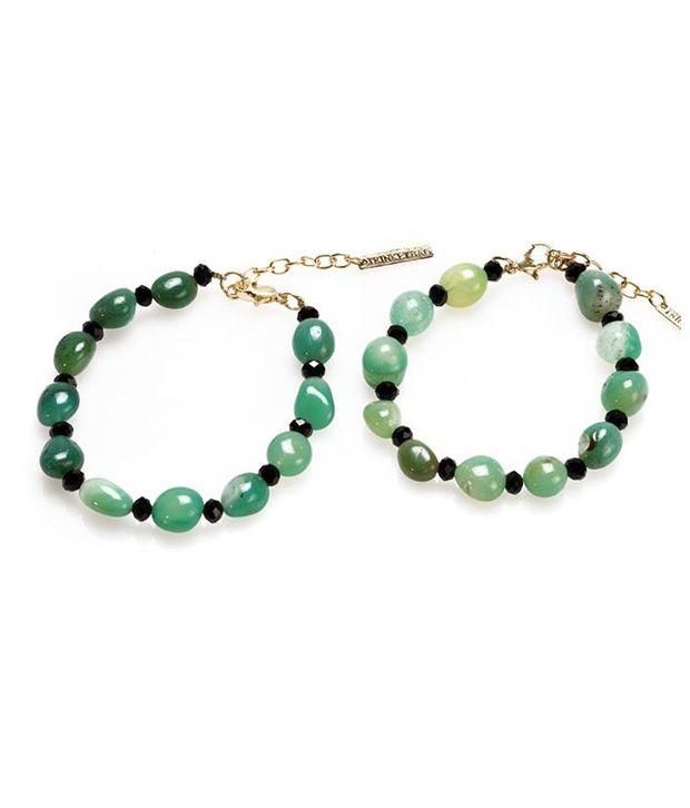 Trinketbag Natural stones anklet - Green