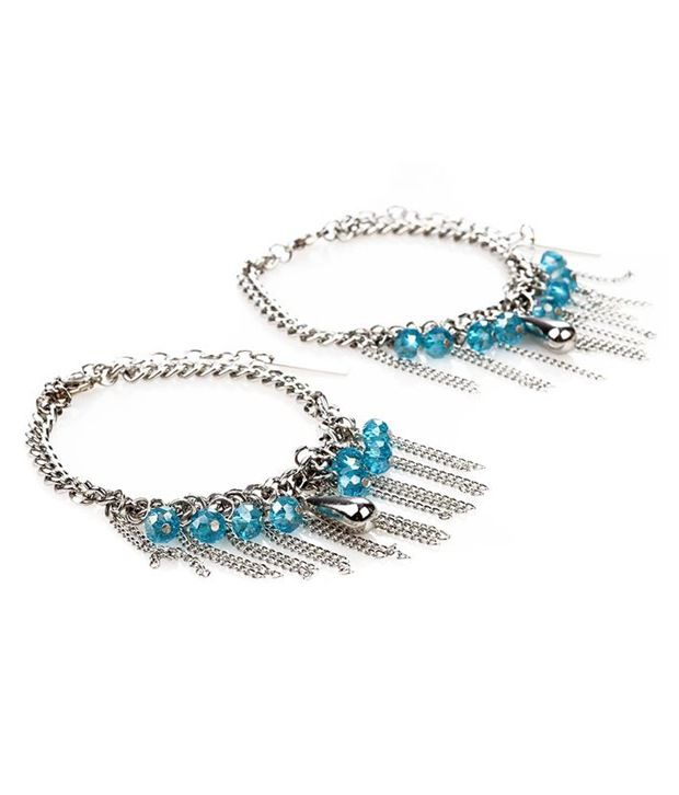 Trinketbag Sizzle n drizzle turquoise blue anklets