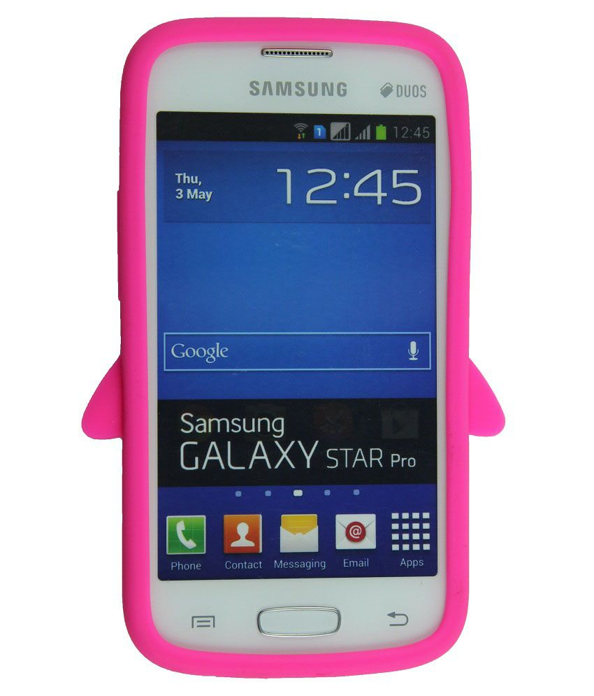 new style e86c5 411a6 Casotec Penguin Silicone Jelly Back Case Cover for Samsung Galaxy Star Pro  S7262 - Hot Pink