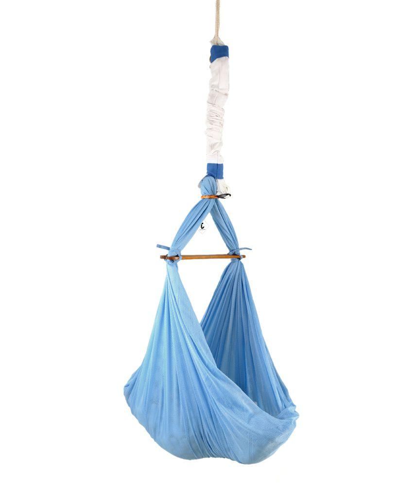 Baby bed online flipkart - Cuddlycoo Baby Hammock Blue Cradle