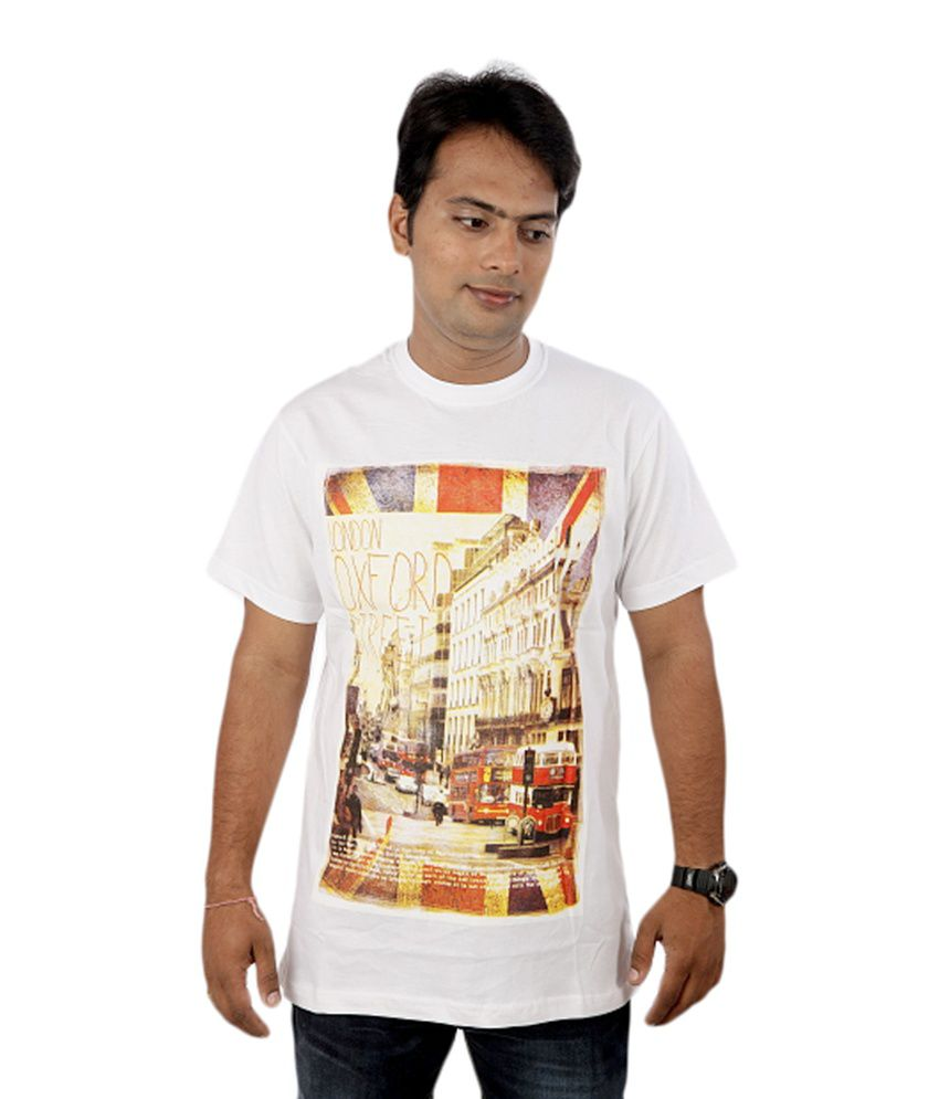 JOKE TEES White Cotton T-Shirt