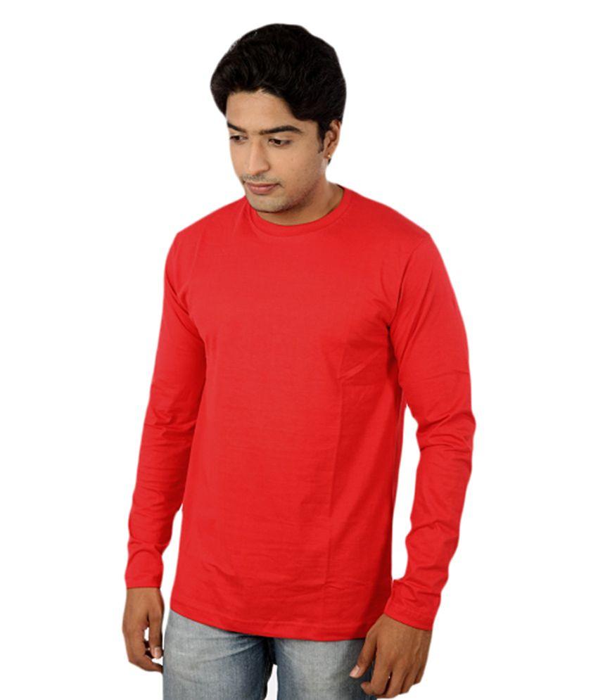 Joke Tees Red Cotton T-Shirt